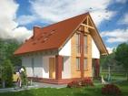 Проект удобного дома с цоколем и мансардой